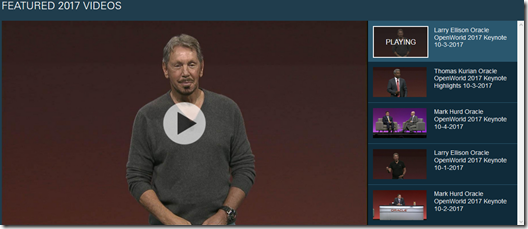 Oracle OpenWorld Keynote Larry Ellison 2017