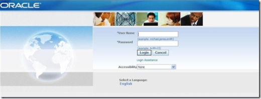 Oracle E-Business Suite R12 Vision Login