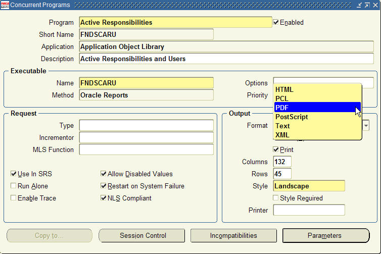 printing reports in pdf format with oracle applications rh oracleappsblog com oracle report manager user guide oracle forms and reports user guide