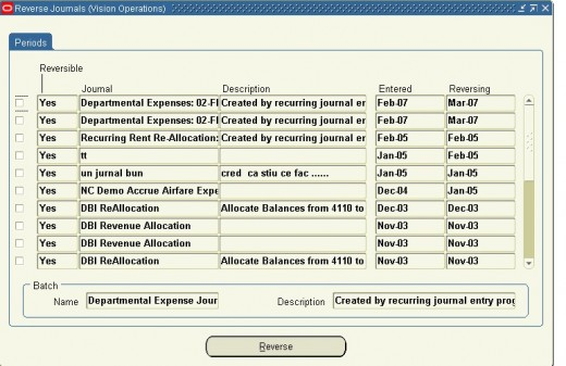 Use this form to manually reverse journals